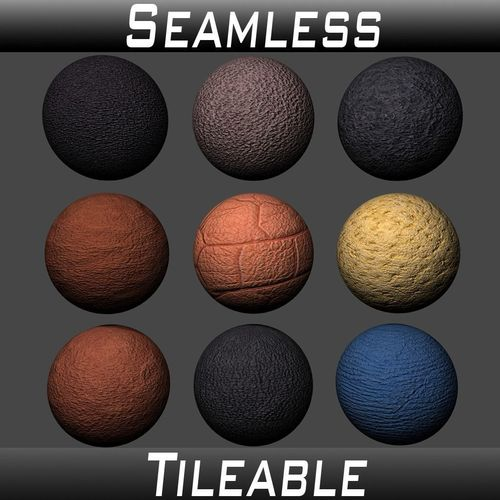 leather textures pack 1 3d model  1