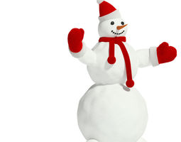 3d model snowman 1