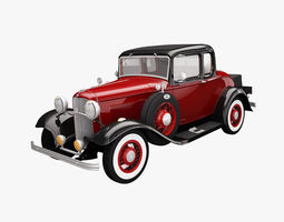 3D Ford DeLuxe Coupe 1932