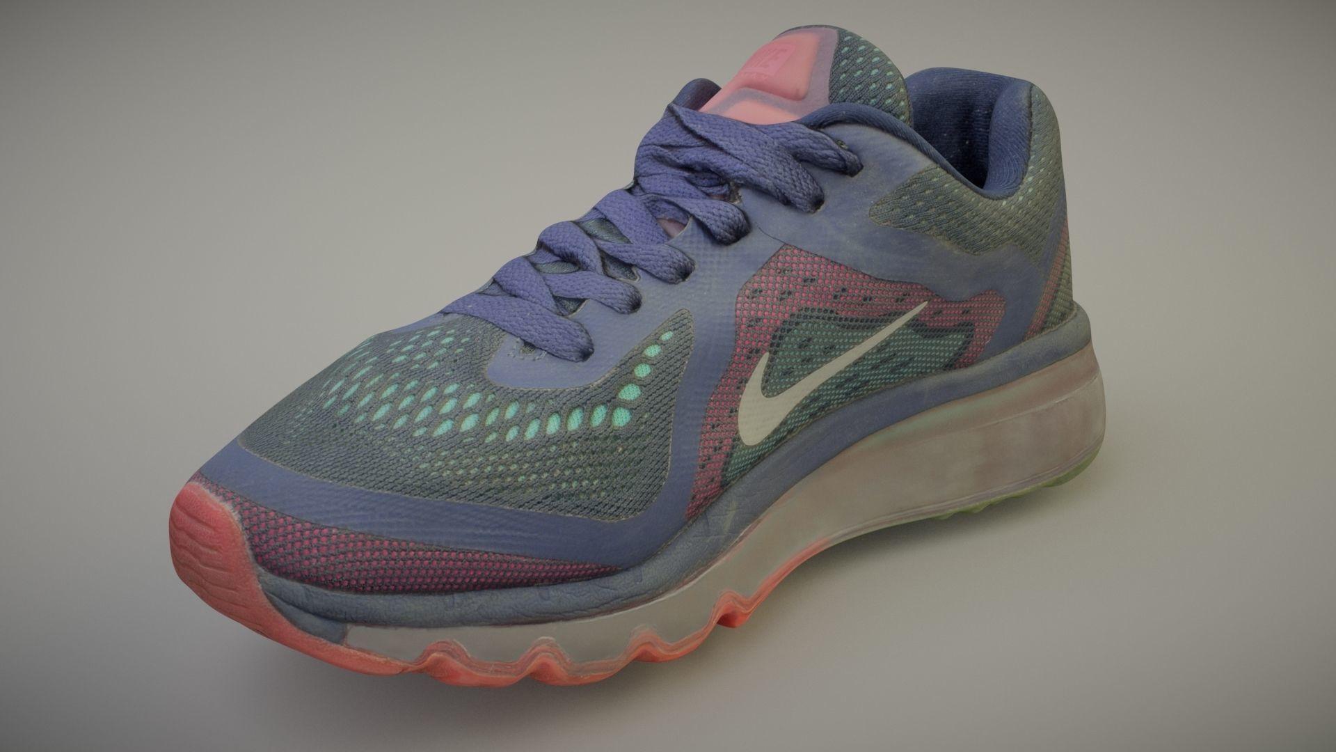 Worn Nike Air shoe low poly 3D model