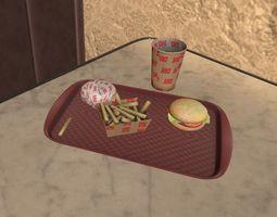 Fast Food - props 3D model