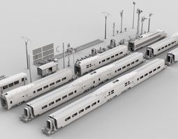 3D model Future Train Kitbash Collection