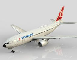 Turkish Airlines Airbus 3D model