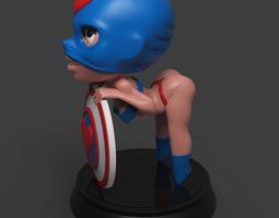 3D print model Chibi Captain Love