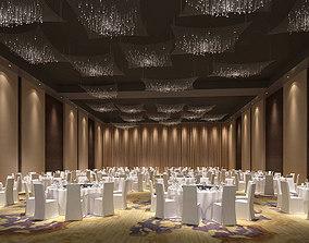 Business Restaurant - Coffee - Banquet 09 3D model