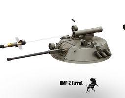3d bmp-2 turret with spandrel missile