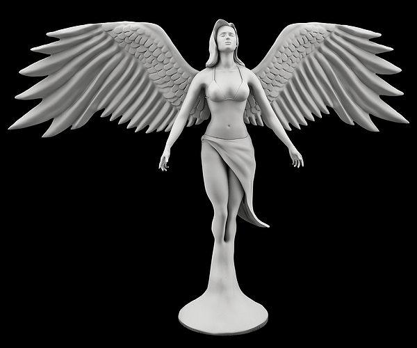 statue of angel 3d model max obj fbx stl ztl 1