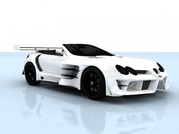 mercedes-benz slr-mclaren 722 cabrio tuned 3d model max tga 1