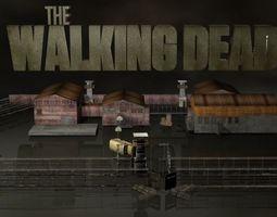 3D model Walking Dead Prison Set