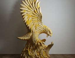 eagle snake sculpture 3D model decorating
