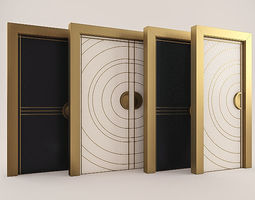 art deco doors 3dmodel