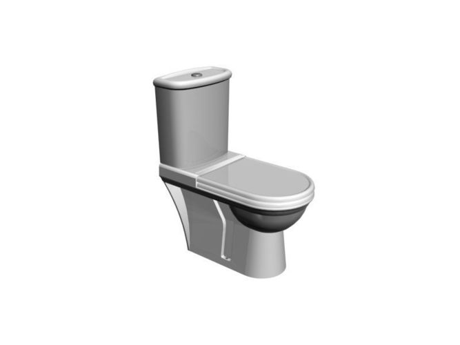 toilet one - toilet 1 3d model low-poly max 1