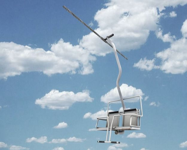 chairlift 3d model rigged blend 1
