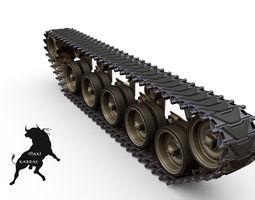 M-41 Walker Bulldog   Tracks 3D Model