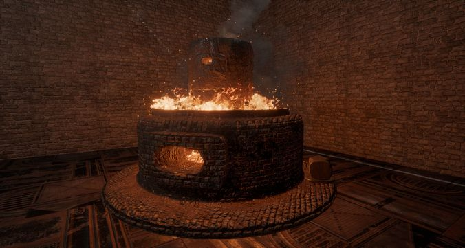 Forge and Anvil Combo HD 4k PBR Ready Textures LOW POLY