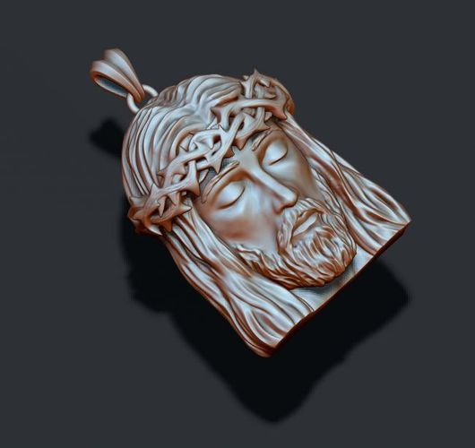 Jesus head pendant 3d printable model jesus cgtrader jesus head pendant 3d model stl 3dm 6 aloadofball Choice Image