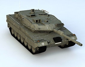Leopard 2A6 3D model 2a6 animated