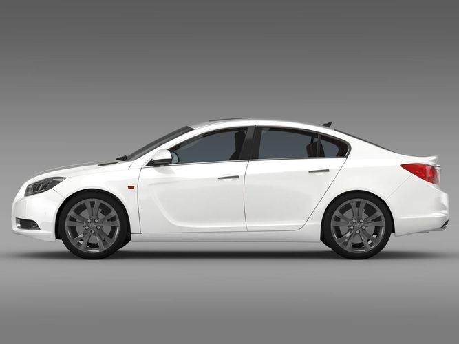 buick regal 2011-2013 3d model max obj 3ds fbx c4d lwo lw lws 1