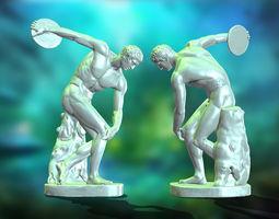 Discobolus statue 3D asset