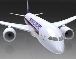 3D model animated Boeing 787 Dreamliner