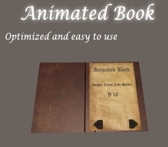 animated book 3d model low-poly rigged animated unitypackage 1