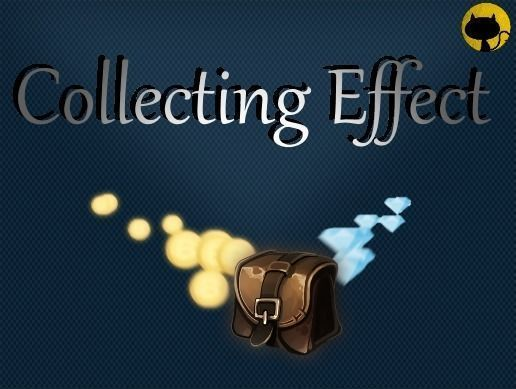 collecting effect 3d model low-poly rigged animated unitypackage 1