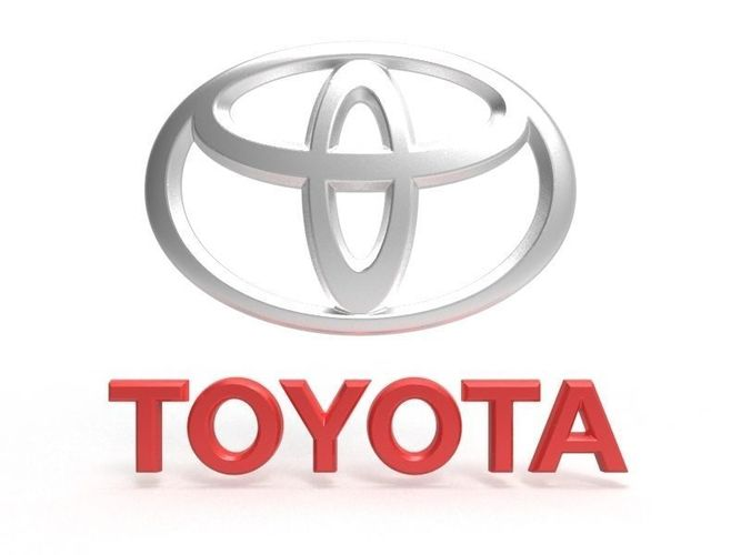 Auto Toyota Logo 3d Cgtrader