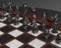 chessboard made on C4D 3D print model