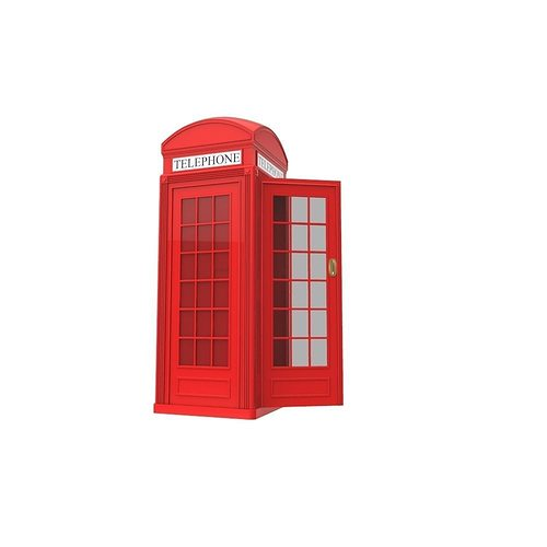 red phone box 3d model fbx ma mb 1