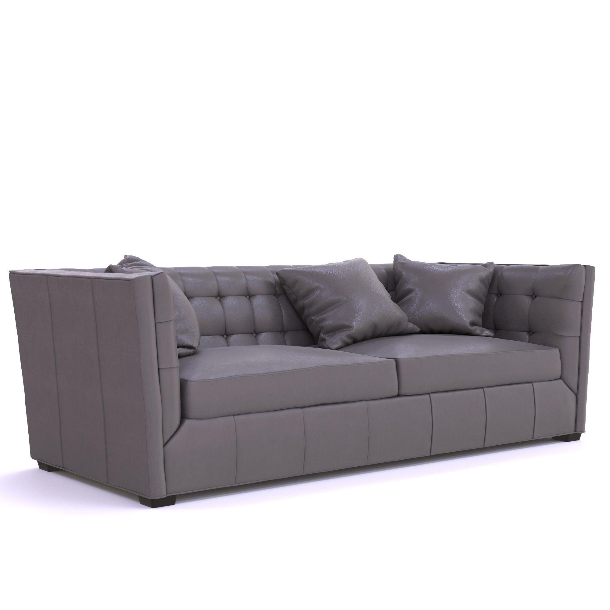 Hayden Tufted Leather Sofa | 3D model