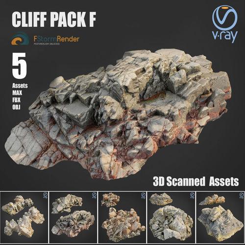 cliff pack f bundle 3d model max obj mtl fbx 1