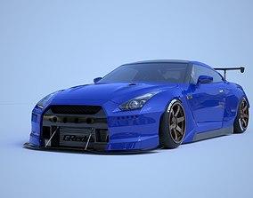 3D model nissan GTR-R35 pandem