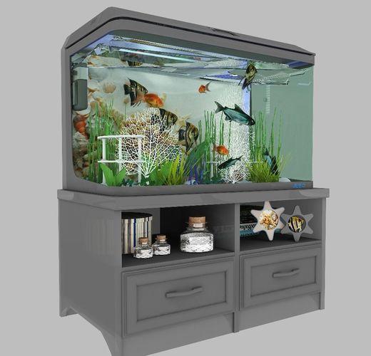 aquarium 01 3d model max obj mtl 3ds fbx 1