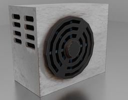 Air conditioner 3D asset VR / AR ready