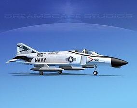 3D McDonnell Douglas F-4J Phantom II V11 USN