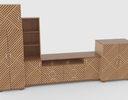 3D model tv stand 55