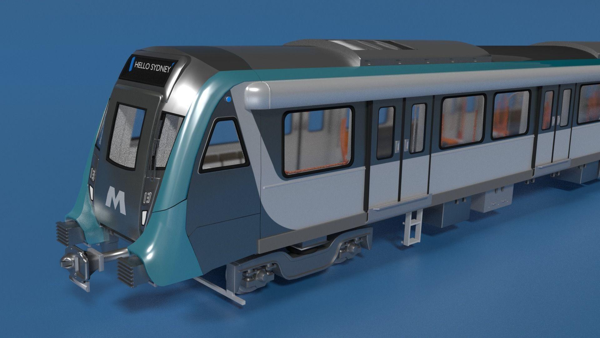 Modern Sydney Subway Train   3D model