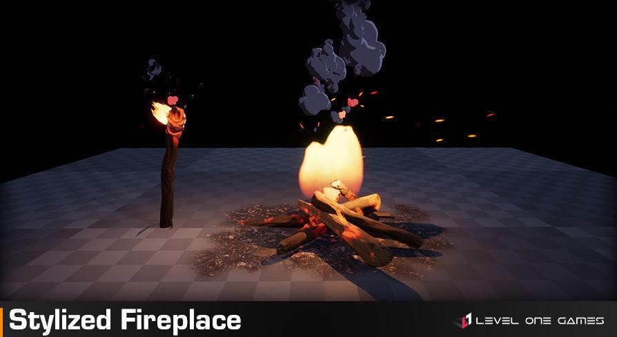 Stylized Fireplace PRO | 3D model