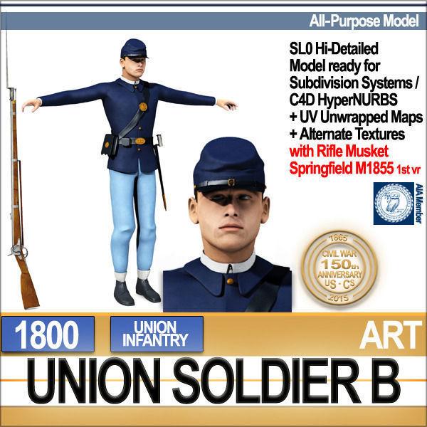 Civil War Union Soldier B Infantry
