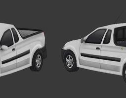 Pickup Van 3D asset