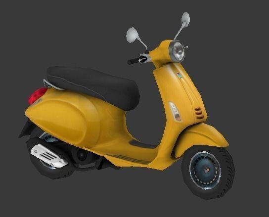 scooter 3d model low-poly fbx 1