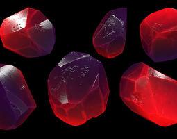 3D asset realtime crystal