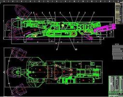 The vertical axis underground boring machine EBZ132 3D