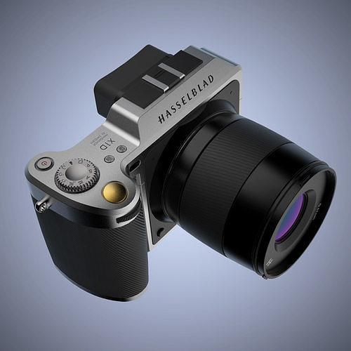 Hasselblad X1D-50c Medium Format Mirrorless Digital Camera | 3D model