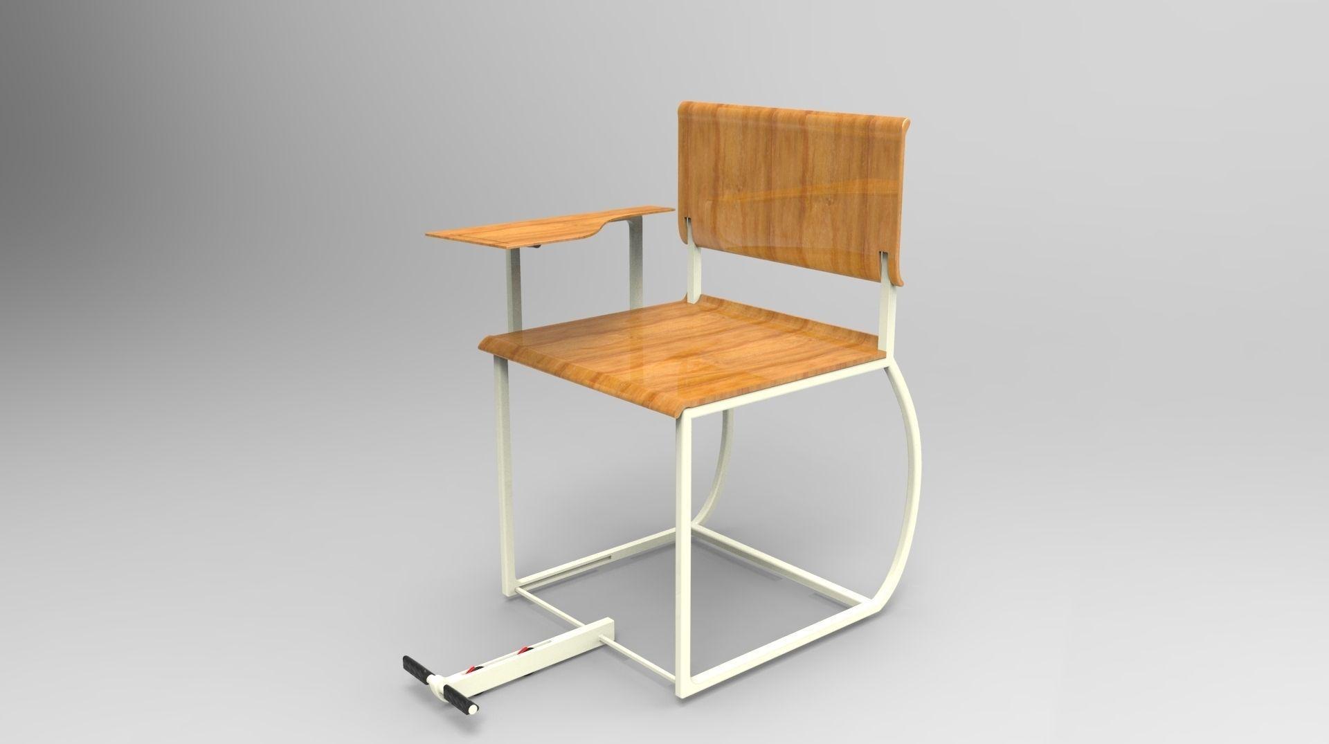 3D model student school chair