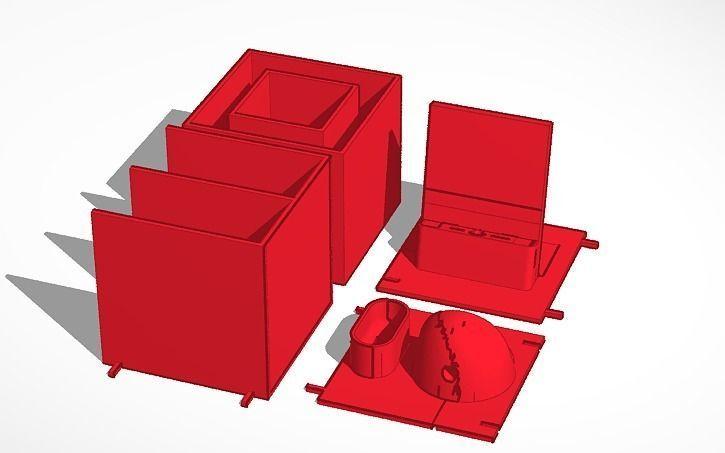 3d Print Model Modular Desk Organizer