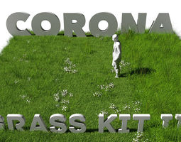 Grass Kit III for C4D and Corona render 3D