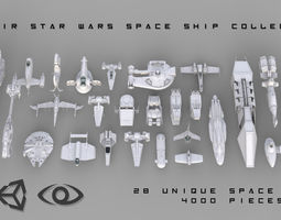 Star Wars Space Ship Kitbash Collection 3D model