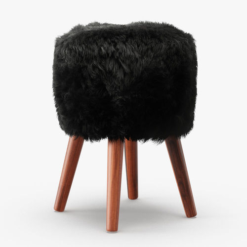royal dream sheepskin stool  3d model max fbx 1