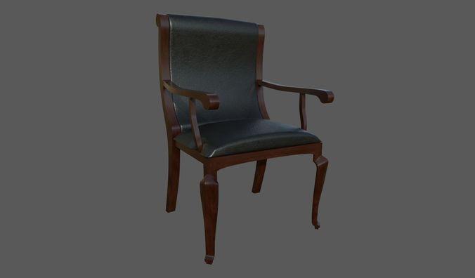 classic chair 3d model 3d model fbx dae 1